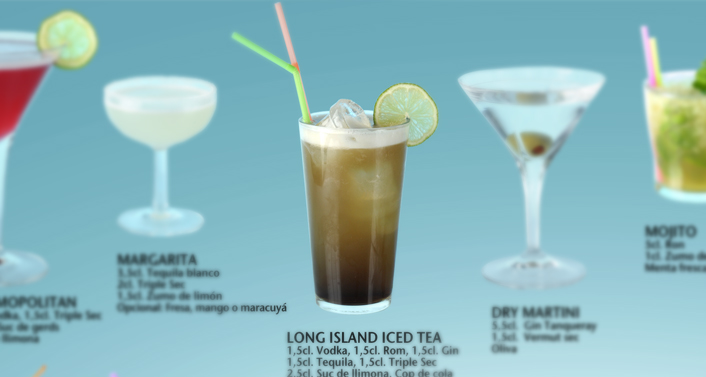 Long Island Iced Tea, MARGARITA BLUE bar/restaurant, Barcelona
