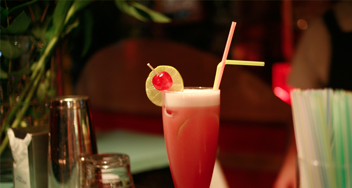 Singapore Sling, MARGARITA BLUE, bar/restaurant, Barcelona